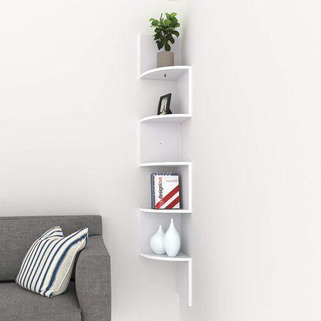 Wavy Wooden Shelves Corner Shelf Design Shelf Design Wall Mounted Corner Shelves