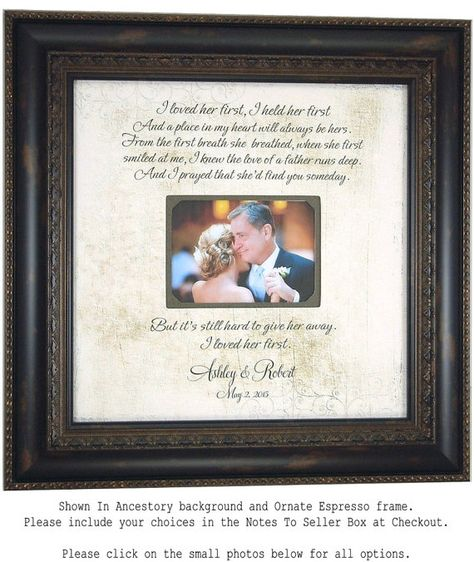 List of Pinterest wedding gifts for parents of bride father etsy ...