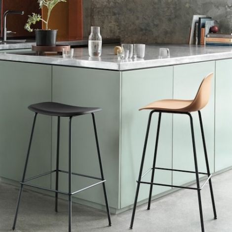 Muuto Fiber Bar Stool Tube Base 250 Euro Bar Stools Stool