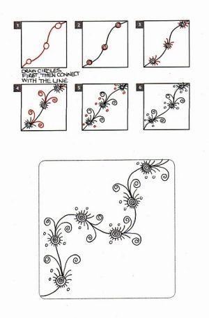 Zentangle vine zentangle art
