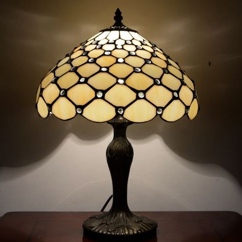 Small Jewel Tiffany Table Lamp Designed