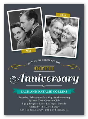 Then And Now Dots 5x7 Stationery Card by Blonde Designs 40th - anniversary invitation