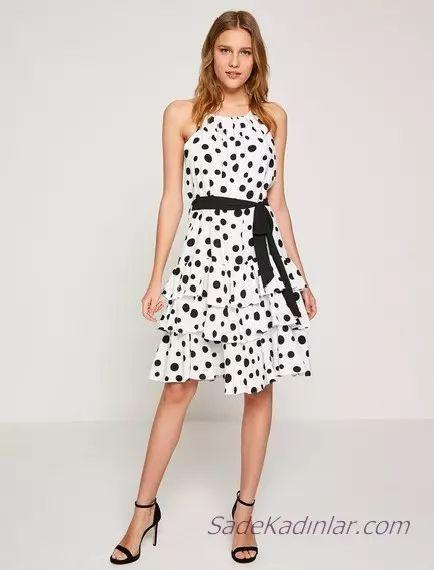 Koton Beyaz Elbise M0delleri Tasarimlari Ve Sikliklari Ile Bayanlara Gorsel Bir Solen Sunuyor Moda Fashion Fashio 2020 Elbise Modelleri Puantiyeli Elbise Elbise