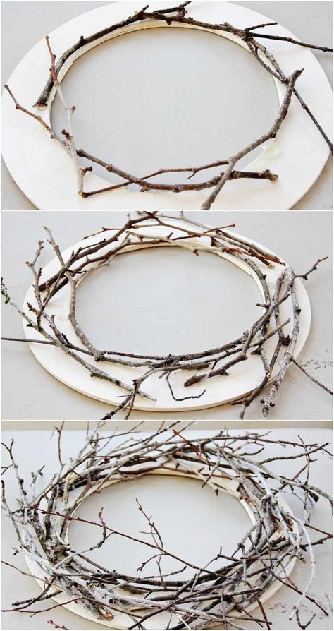 groß Weihnachtsdekorationen zum Selbermachen – setzen Sie nordische Akzente  wooden crown - Wood Crafts #wooden #Wood #WoodCrafts