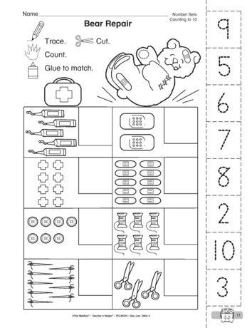 Bear Repair Lesson Plans The Mailbox Math Worksheet Preschool Math Math