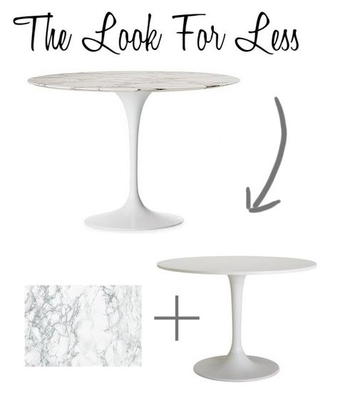 The Look For Less Ikea Dining Table Ikea Dining Table Hack