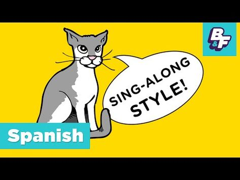 Spanish Verb Conjugation Song With Basho Friends Verbos Verbs Spanish Verb Conjugation Spanish Verbs Verb Conjugation