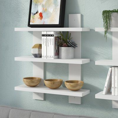 Latitude Run Floating Wall Shelf Finish White Size 24 H X 17
