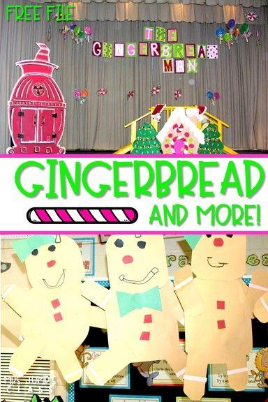 Gingerbread Fun Classroom activities for kindergarten | Mrs  Jump's