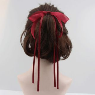 Fashion Bowknot Ribbon Hair Ring Simple Lovely Headdress With Bow For Women Girl Ribbon Hairstyle, Ribbon Hair Ties, Hair Ribbons, Hair Bows, Hairstyles With Ribbon, Red Hair Bow, Bandana Hair, Kawaii Hairstyles, Scarf Hairstyles