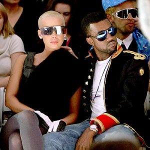 Kanye West Amber Rose Amber Rose Long Hair Kanye West