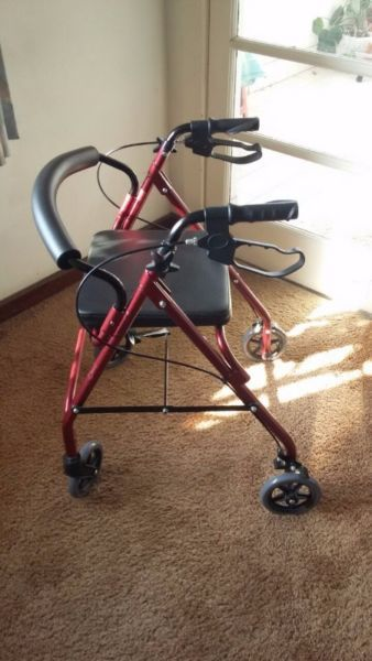 Brand New Walker In Perfect Condition Ideal For Geriatrics Or Those Learning To Walk Again Folds Up Easily And Takes Up Mini Comfortable Seating Seating Home