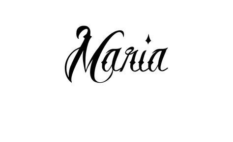 Tatuagem do nome Maria utilizando o estilo Brother Tattoo