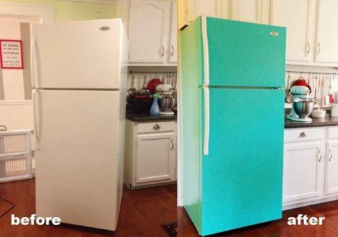 Decor: DIY Painted Refrigerator