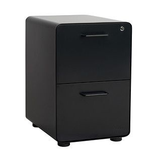 Poppin Matte Black 2 Drawer Stow Locking Filing Cabinet In 2020 Filing Cabinet Hanging File Folders Drawers