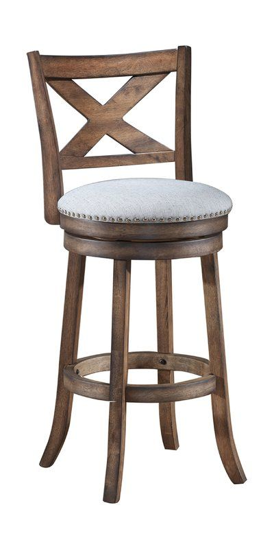 Mackin Wooden Swivel Bar Counter Stool Swivel Bar Stools Bar