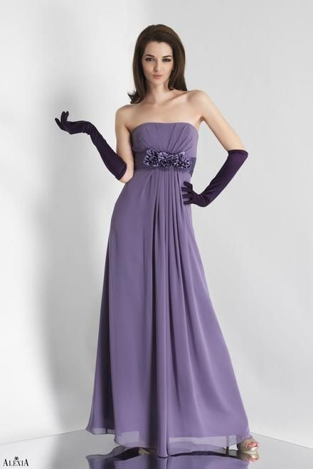 Charmeuse Pleated Strapless Style 4106 Bridesmaid Dress By Alexia Designs