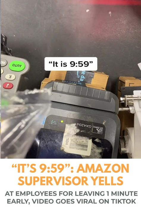 """""""It's 9:59"""": Amazon Supervisor Yells At Employees For Leaving 1 Minute Early, Video Goes Viral On TikTok"""