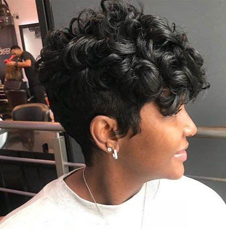 Black Pixie Haircut Best Short Hairstyles For Black Women 2018 2019 Hair Styles Short Curly Wigs Curly Hair Styles
