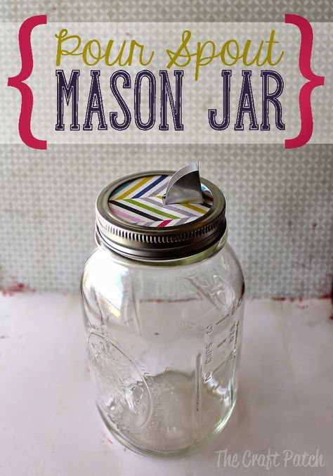 Make your own pour spout mason jars. Such a cute way to store dry baking ingredients like sugar, salt, baking powder, and cornmeal!