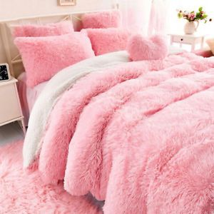 Pink Fuzzy Bedding Google Search Fluffy Bedding Bed Comforter Sets Fluffy Comforter