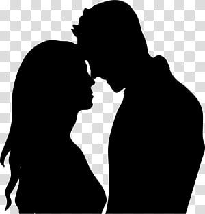The Kiss Silhouette Couple Drawing Love Couple Transparent Background Png Clipart Silhouette Drawing Silhouette Painting Couple Silhouette