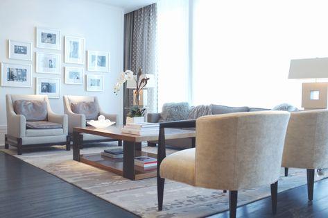Toronto Penthouse Model Suite Living Room