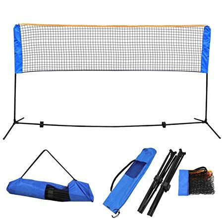 Zeny 10 Ft Long 5 Ft High Portable Badminton Net Beach Volleyball Tennis Competition Sports Training Net Set W Badminton Net Height Badminton Nets Tennis Nets