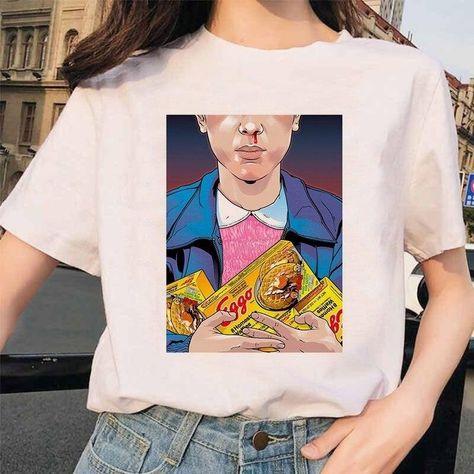 Stranger Things 3 Funny Printed T-shirt, 1001 / XXL