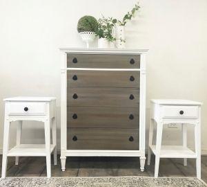 White Dresser Sets Furniture Vintage Bedroom Furniture