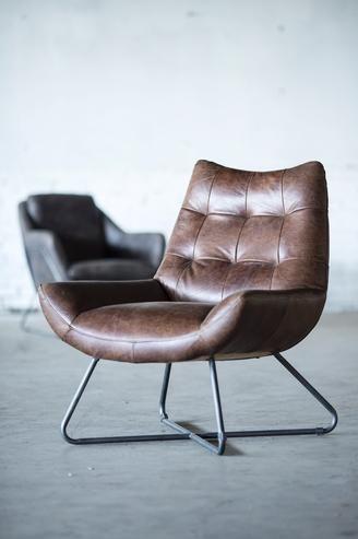 Vintage Sessel Echtes Leder Design Mobel Bei Mobelhaus