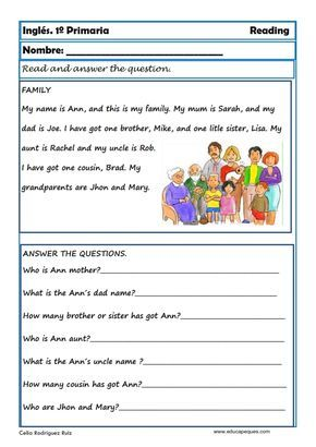 Ejercicios De Inglés Reading Y Writting Para Primero De Primaria Ejercicios De Ingles Actividades De Lectura Preescolar Lectura Para Principiantes
