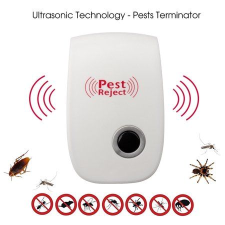Smart Powerful Ultrasonic Pest Control Repeller Electric Wall Plug Repellent For Mice Cockroaches Bed Bugs Flies And More Hu Pest Control Pet Safe Ultrasonic