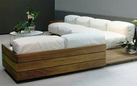 Wohnzimmer Designideen Modern Diy Möbel Sofa Aus Paletten Weiß | Paléts |  Pinterest | Sofa Aus Paletten, Diy Möbel Und Sofa