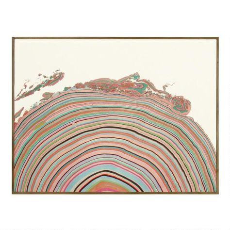 Multicolor Hemisphere By Pernille Snedker Framed Wall Art - Canvas - Large by World Market
