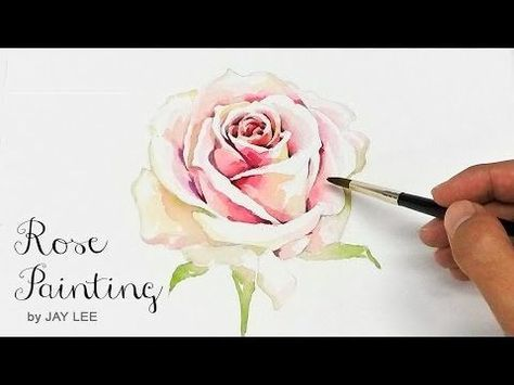 Lvl4 Watercolor Tutorial How To Paint A Rose Wet On Wet