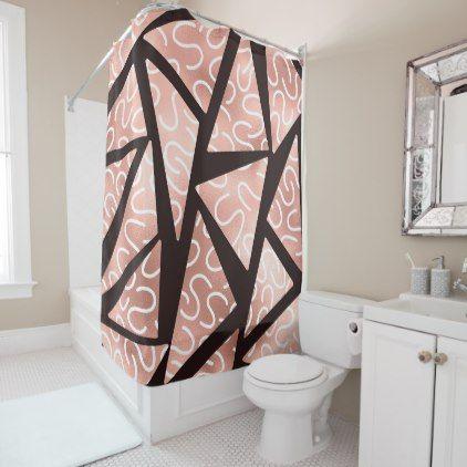 triangle geo shower curtain