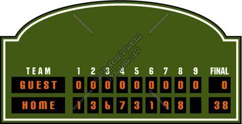 Baseball Scoreboard Template Google Search Baseball Scoreboard