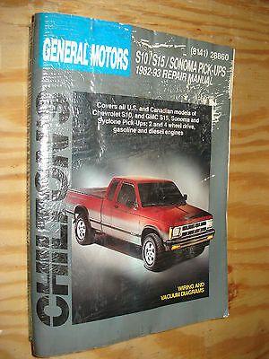 1982 1993 Chevy Gmc Truck Shop Manual Service Book S 10 S 15 Chiltons Repair In 2020 Gmc Truck Chilton Repair