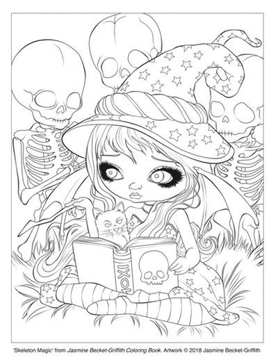 Free Coloring Pages Cleverpedia S Coloring Page Library Witch