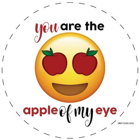Apple Of My Eye Applesauce Valentine Applesauce Valentines Valentines For Kids Disney Birthday Card