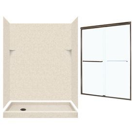 Swanstone Tahiti Desert 5 Piece Alcove Shower Kit Common 60 In X