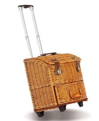Freeport Outdoor Wicker Picnic Basket With Wheels Wicker Picnic