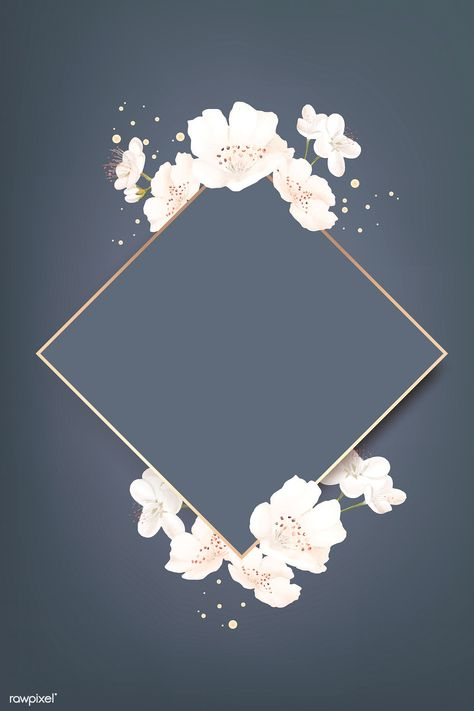 Rhombus cherry blossom frame vector | premium image by rawpixel.com / wan