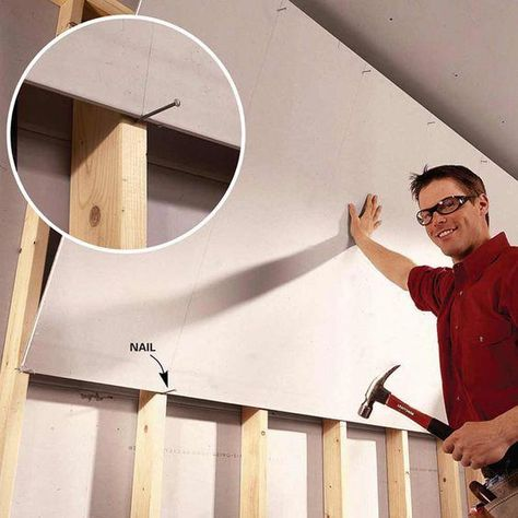 Solo Drywall Hanging: Use this #DIY tip to hang #drywall ...
