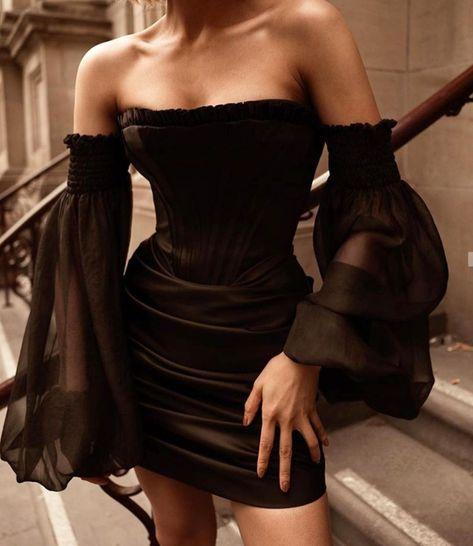 Black Corset Dress, Corset Outfit, Mesh Dress, Black Formal Dress Short, Dresses Short, Fancy Black Dress, Simple Black Dress, Mini Dresses, Elegant Outfit