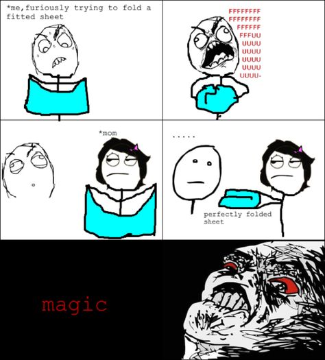 Meme Comics- Mom knows magic