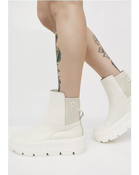 Vanilla FENTY PUMA By Rihanna Chelsea Sneaker Boots in 2019