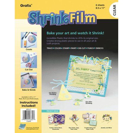 Grafix Shrink Film Clear Inkjet 6 Sheets in One Packet Printable