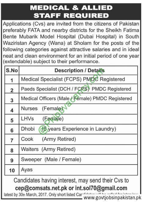 Sheikh Fatima Bente Mubarik Model Dubai Hospital Jobs 2017 Jobs - medical technologist job description